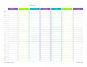 time management planner templates free personal planner free printables