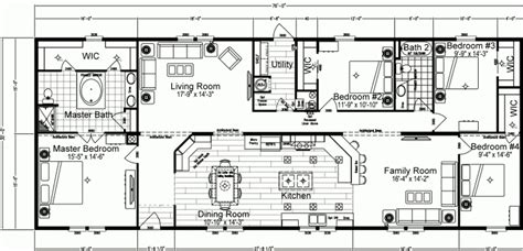 4 Bedroom Mobile Home Floor Plans by Beautiful 4 Bedroom Mobile Home Floor Plans New Home