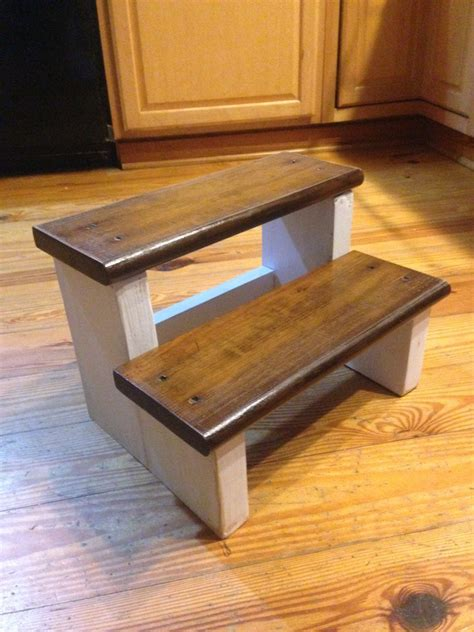 Diy Child Step Stool by Rustic Wood Farm House Step Stool Step Stool Childs