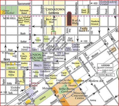 san francisco downtown map union square road map of san francisco union square shopping map san