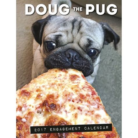 pug desk calendar doug the pug 2017 engagement calendar 9781682343234 calendars