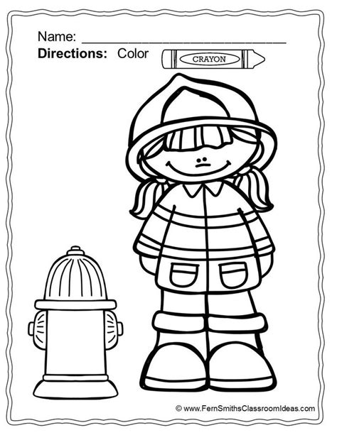 coloring pages for fire safety coloring colors and safety