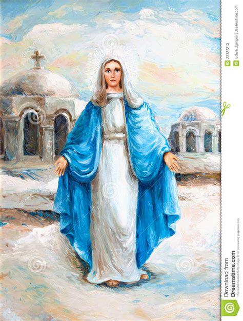 imagenes sencillas de la virgen maria pintura al 243 leo del virgen mar 237 a fotos de archivo imagen