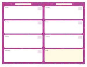 weekly calendar page national products blog
