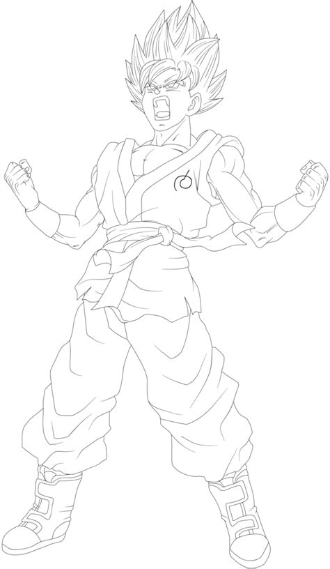 ssgss goku coloring pages goku ssgss fukkatsu no f power up lineart by