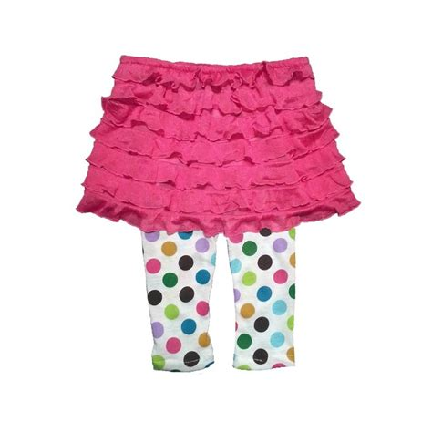 Baby Avail Pink Skirt bright pink ruffle baby skirt lucky skunks baby toddler clothes