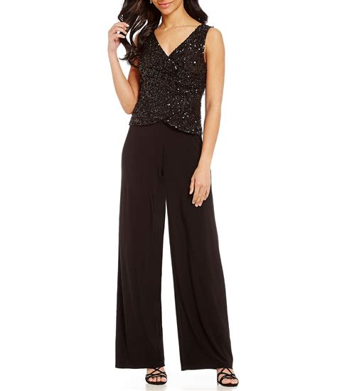 Dillards E Gift Card - adrianna papell beaded two piece jumpsuit dillards