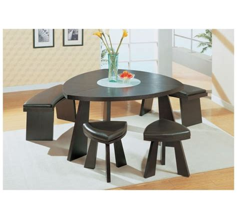 triangular dining room set wenge brown
