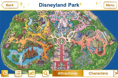 disneyland paris map new official disney parks iphone app features augmented