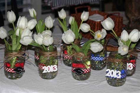 easy graduation centerpieces high school pictures to pin