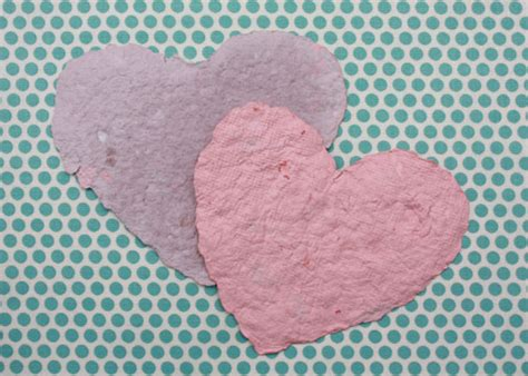 Handmade Paper Hearts - winter crafts