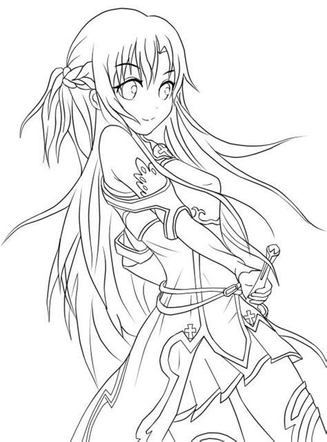 anime coloring pages sword art online 274 best lineart sword art online images on pinterest