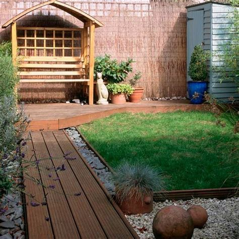 Small Patio Garden Design Ideas Small Garden With Decked Path Small Garden Design Ideas
