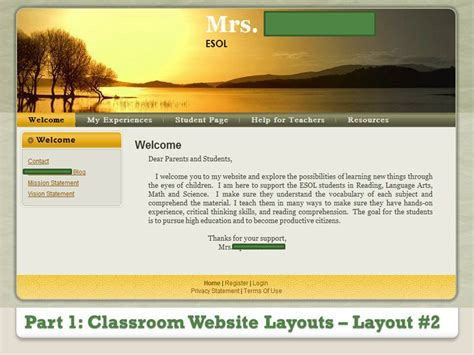classroom layout website part 1 classroom website layout whitney beem