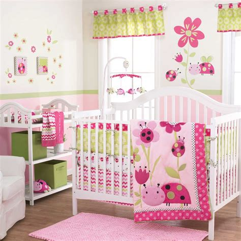 pink ladybug crib bedding lil ladybug baby bedding collection baby bedding