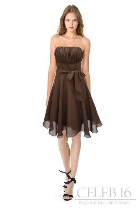 Brown Dress satin brown bridesmaid s dress amanda