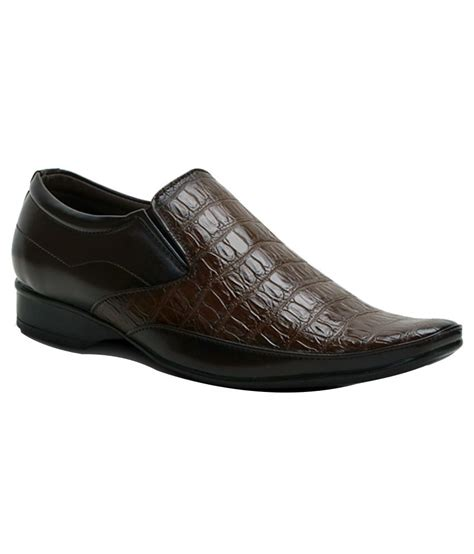 buy get glamr trendy brown formal shoes for snapdeal