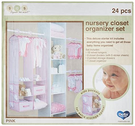 delta children nursery closet organizer pink 24