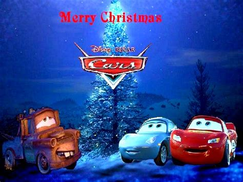 merry christmas  mater lightning mcqueen  sally carrera disneyland christmas disney
