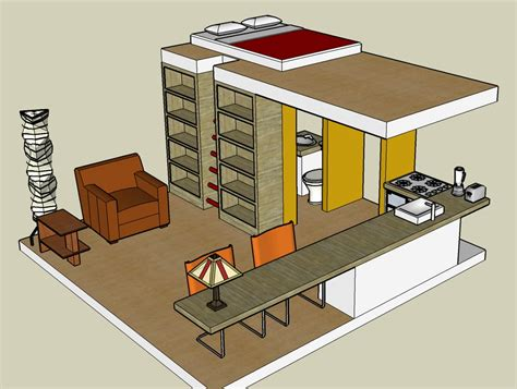 Log Cabin Floor Plans With Loft by Google Sketchup 3d Tiny House Designs