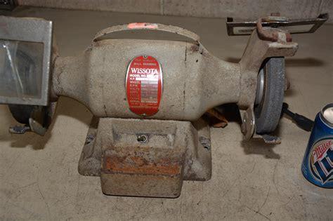 wissota bench grinder wissota e33 g 1 3 hp 6 quot wheel bench grinder 3450 rpm 115v