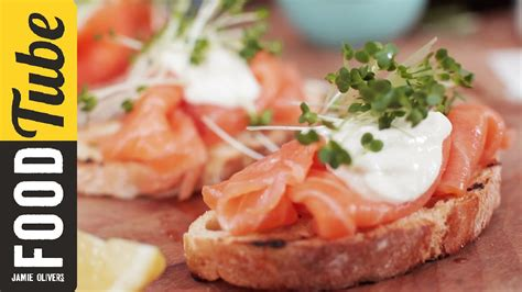 winter starters dinner smoked salmon horseradish canapes oliver