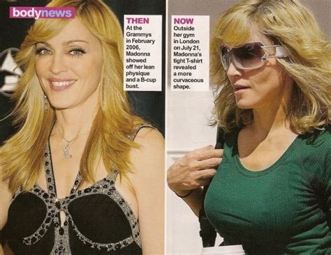 Madona Big Size madonna breast implants before and after bra size