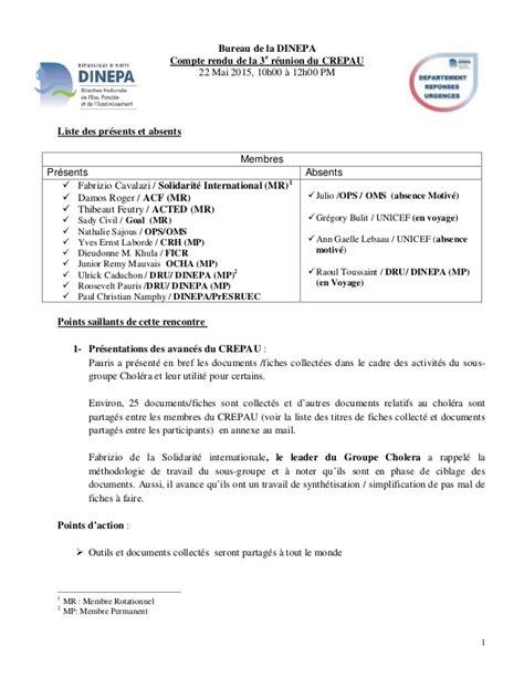 Modèle De Compte Rendu De Réunion