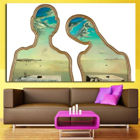 salvador dali living room modern abstract portrait painting by salvador dali wall pictures printed on canvas living room