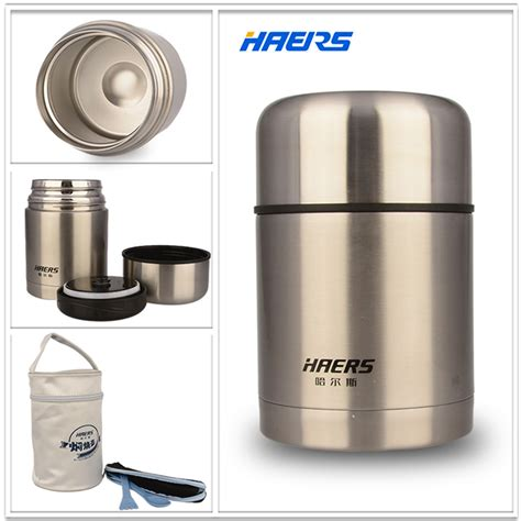 Thermos Vakum Crown haers insulated food jar with bag 600ml stainless steel