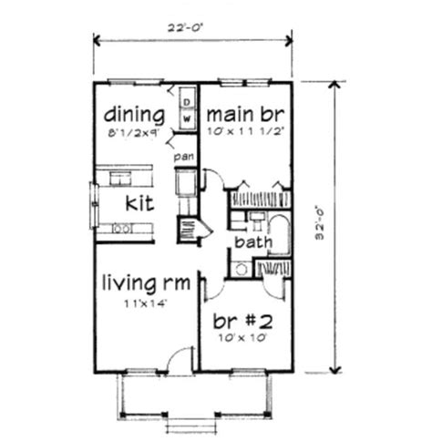 1 000 Square Foot House Plans by Beautiful Small Home Floor Plans 1000 Sq Ft New