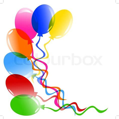 Balloon Decoration For Birthday At Home vector illustration of a bunch of balloons isolated on