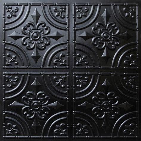 ceiling tiles black 205 faux tin ceiling tile glue up 24x24 black ceiling