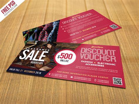 discount card template psd sale discount voucher psd template freebie psdfreebies