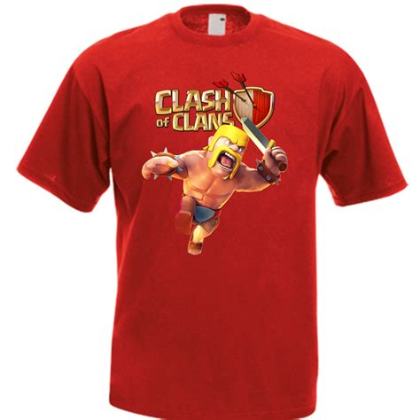 T Shirt Kaos Oblong Clash Of Clan Coc 2 clash of clans coc barbarian king army gaming t shirt many colors t shirts tank tops