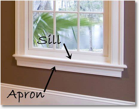 Window Sill Casing Don T Forget Your Apron Window Casing Sills And More