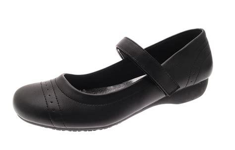 School Wedges black school shoes low wedge heel comfort