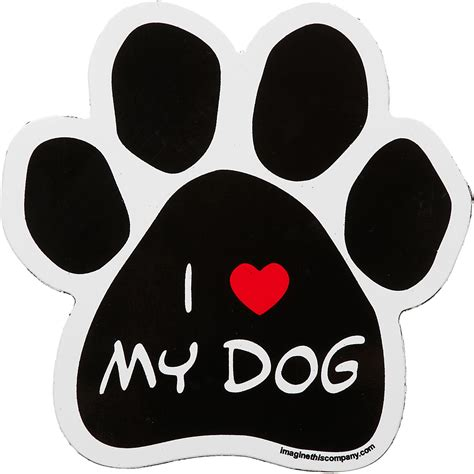 i my puppy i my paw car magnet gift ideas