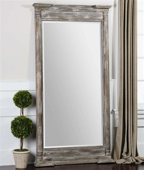 Uttermost Large Mirrors Uttermost Valcellina Wooden Leaner Mirror Beyond Stores