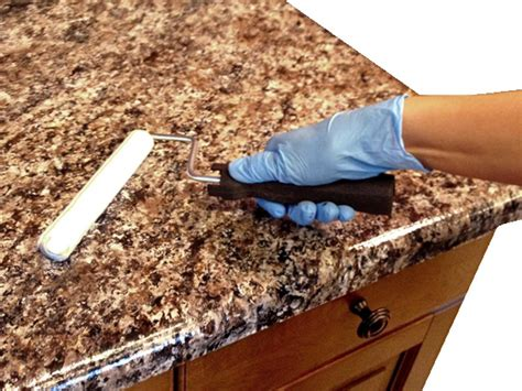 How To Paint Linoleum Countertops by How To Paint Laminate Kitchen Countertops Diy
