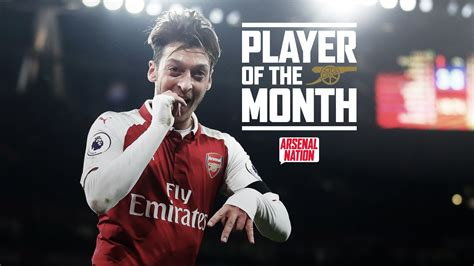 epl november player of the month ozil tops november player of the month poll player of