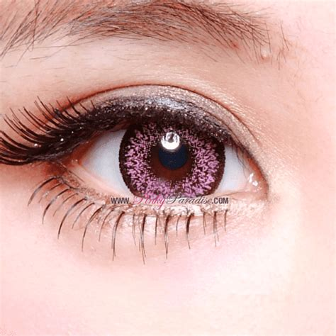 pink colored contacts geo size nudy pink circle lenses colored