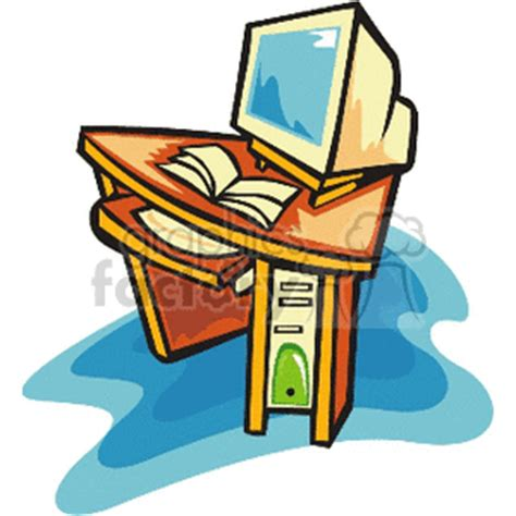 Computer Desk Clipart Office Computer Clipart 62