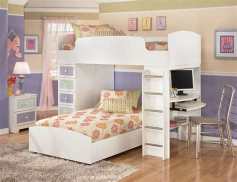 Childrens White Bedroom Furniture Sets The Furniture White Bedroom Set With Loft Bed In
