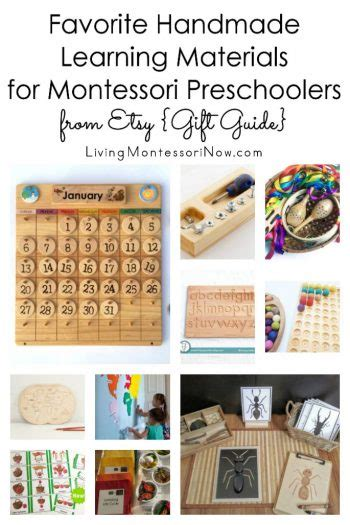 Handmade Materials - montessori monday best gifts for montessori
