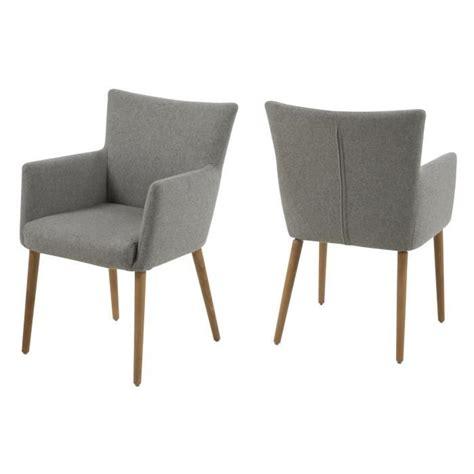 chaise avec accoudoir pas cher chaise de salle 224 manger nellie en tissu avec acco achat
