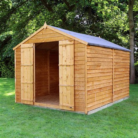 10 X 8 Wood Floor Shed - 10 x 8 waltons windowless overlap apex wooden shed