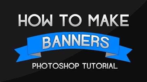 photoshop tutorial how to make banners and ribbons youtube