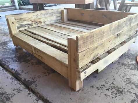 pallet dog bed plans diy reclaimed wooden pallet dog bed plans pallets designs
