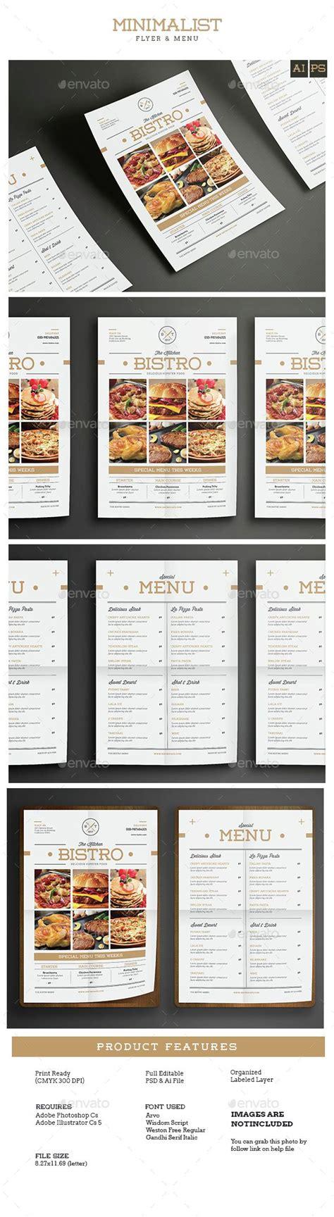 Minimal Restaurant Food Flyer Menu Template Psd Vector Ai Download Here Http Graphicriver Minimal Menu Template